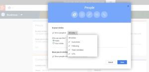 google plus business people