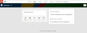 google plus business page share